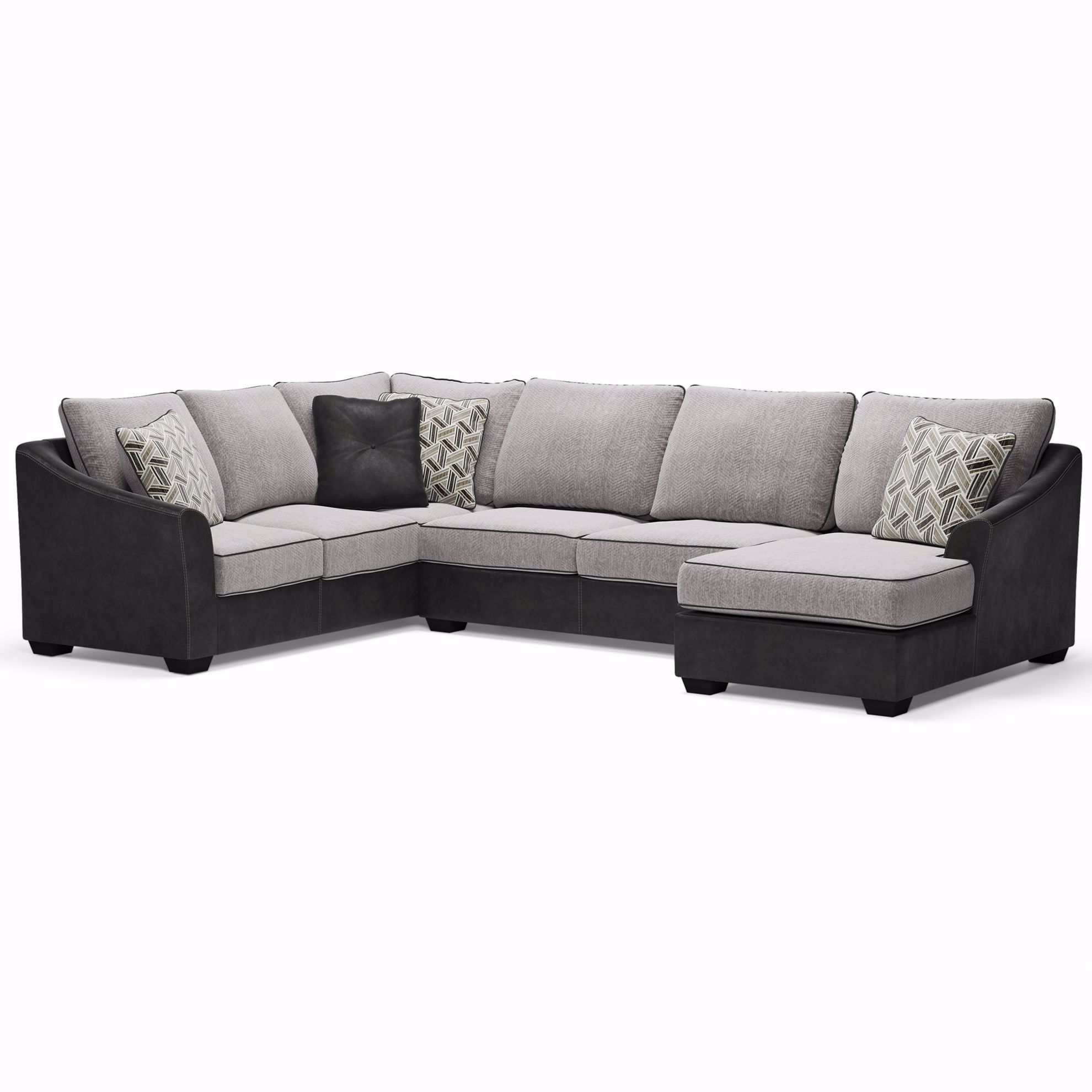 Picture of Bilgray Pewter 3-Piece Sectional