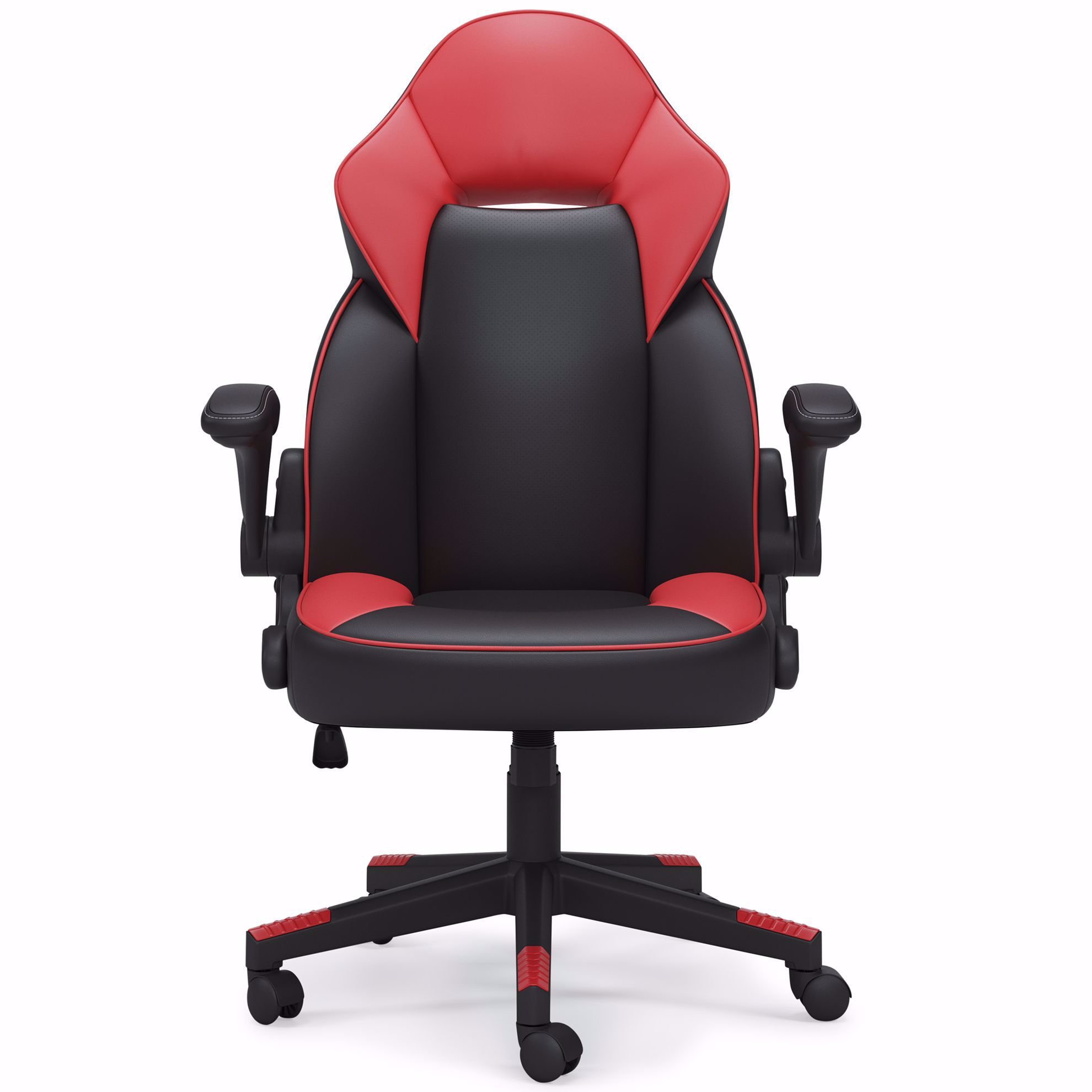 Picture of Lynxtyn Red and Black Swivel Chair