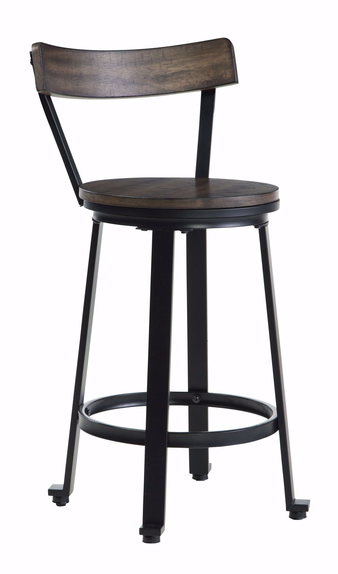 Picture of Melenski Brown and Black Swivel Stool