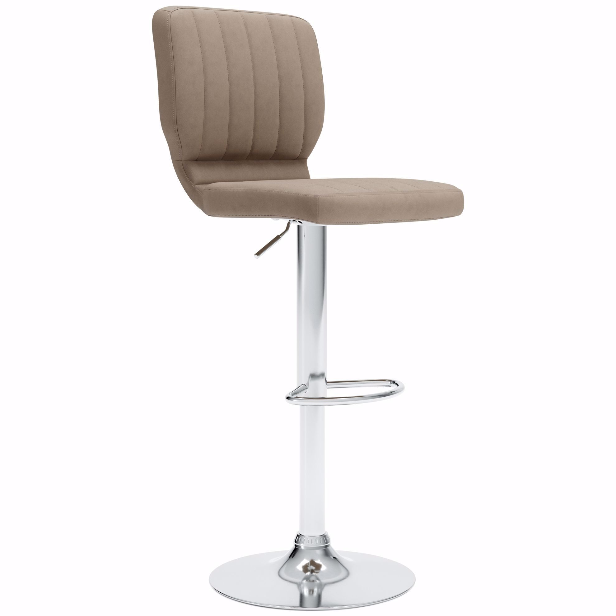 Picture of Pollzen Taupe Upholstered Swivel Adjustable Stool