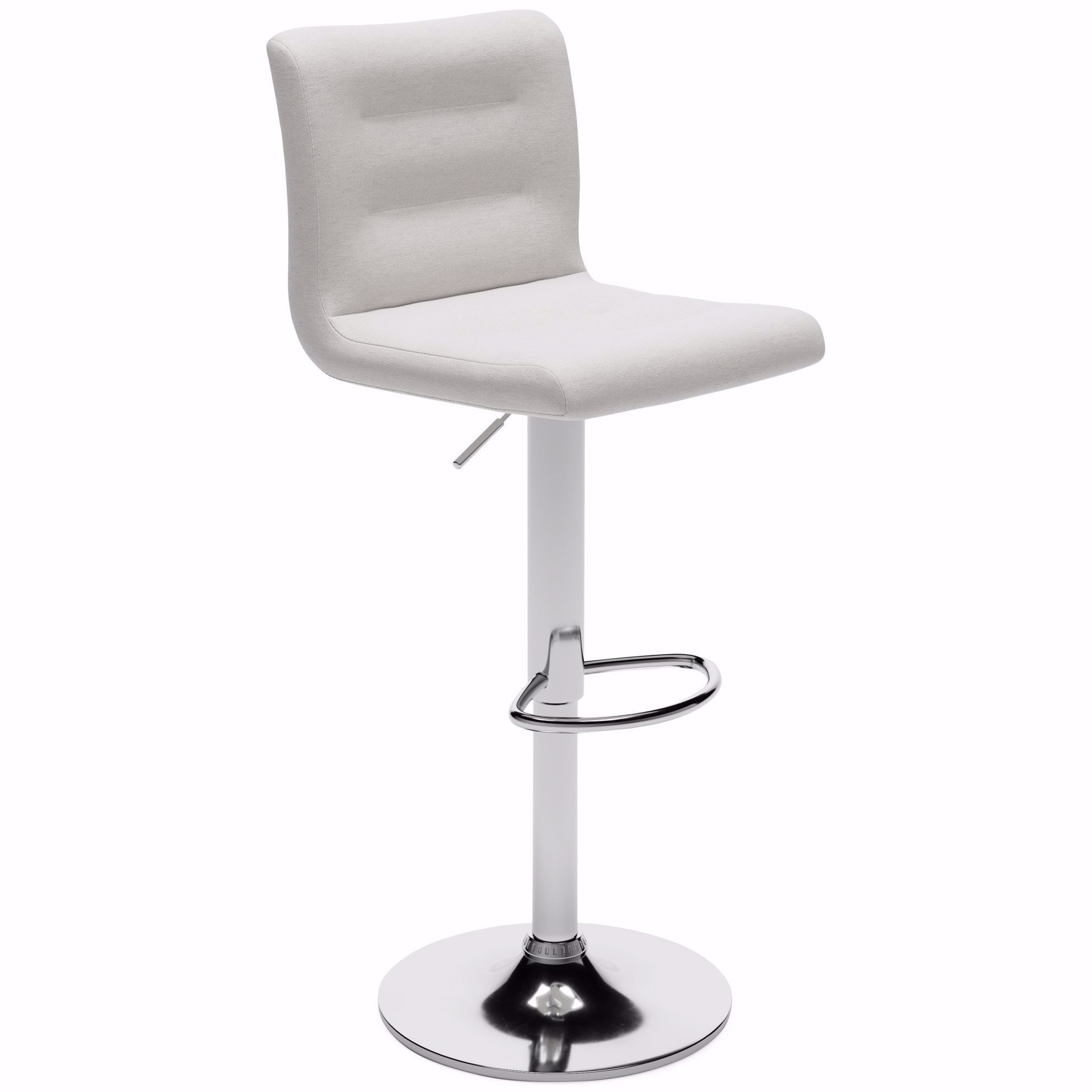 Picture of Pollzen Stone Upholstered Swivel Adjustable Stool