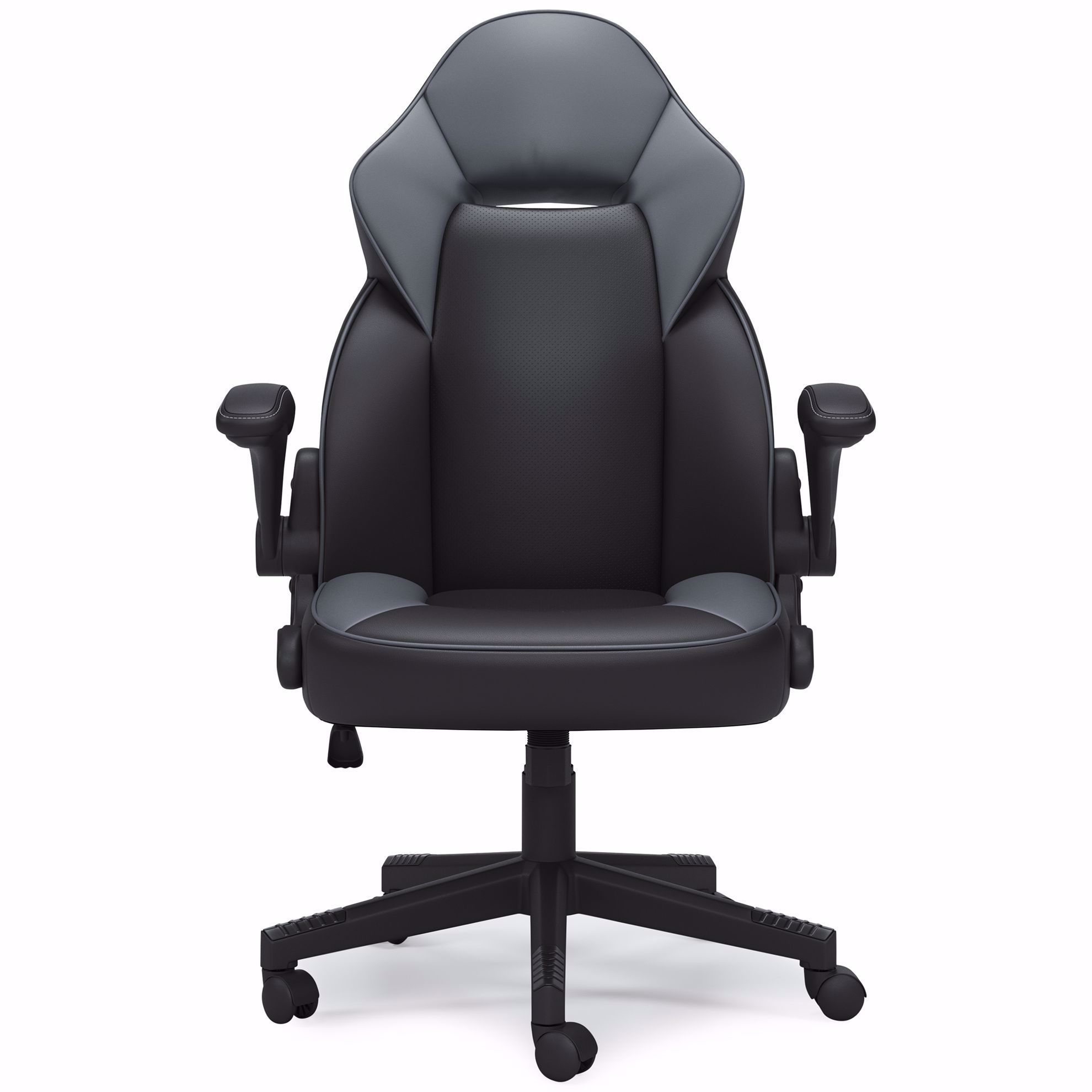 Picture of Lynxtyn Gray and Black Swivel Chair