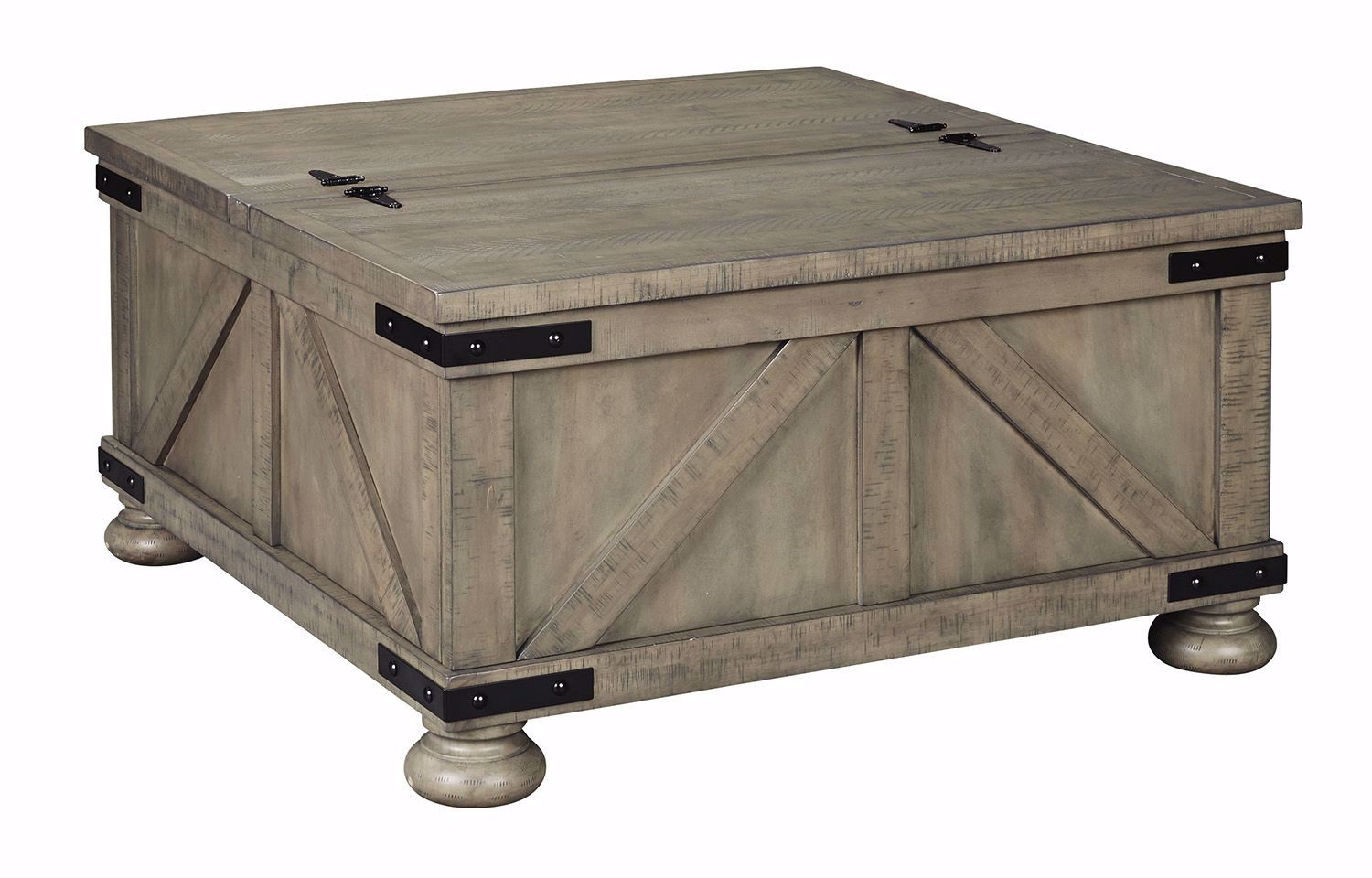 Picture of Aldwin Gray Square Storage Cocktail Table