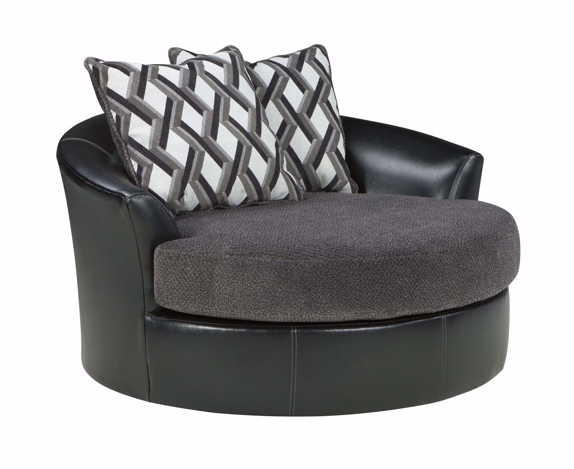 Picture of Kumasi Smoke Swivel Accent Chair