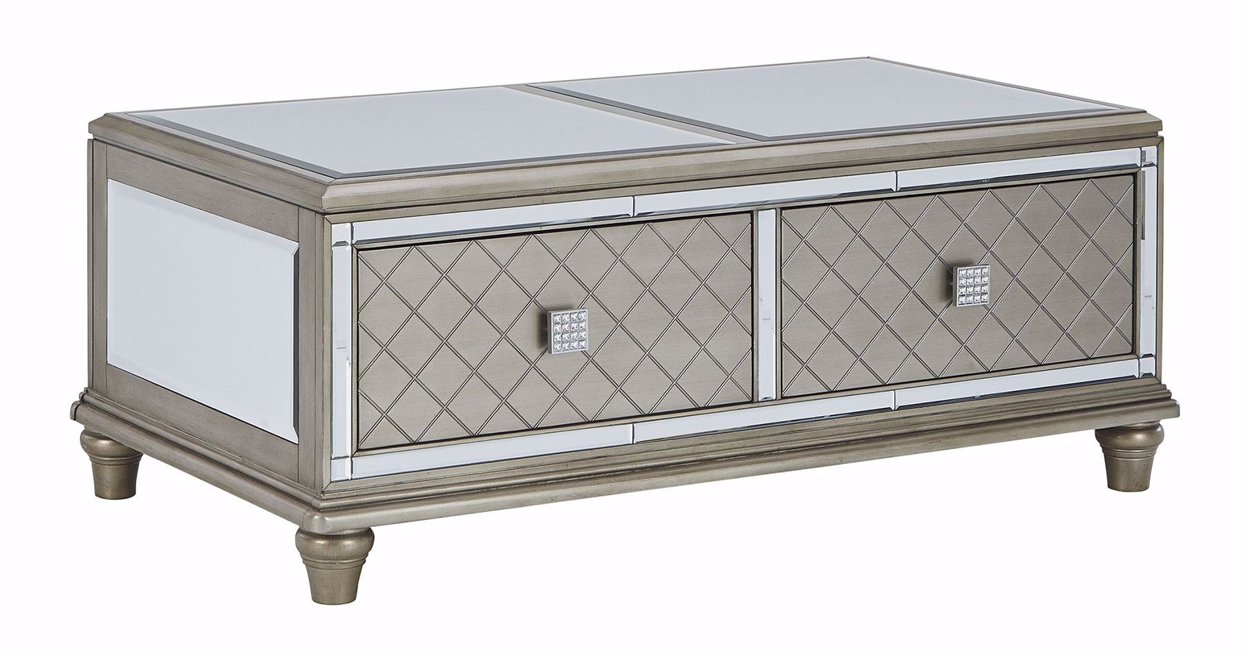 Picture of Chevanna Platinum Rectangle Cocktail Table