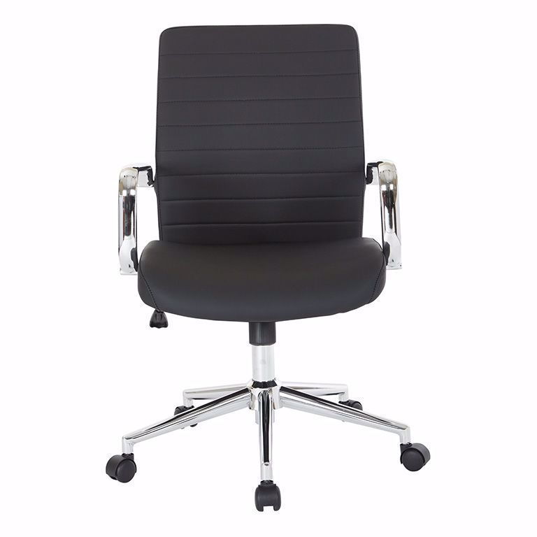 Picture of Mid Back Black Leather Managers Chair