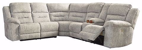 Picture of Family Den Pewter 3 Piece Power Recline Sectional