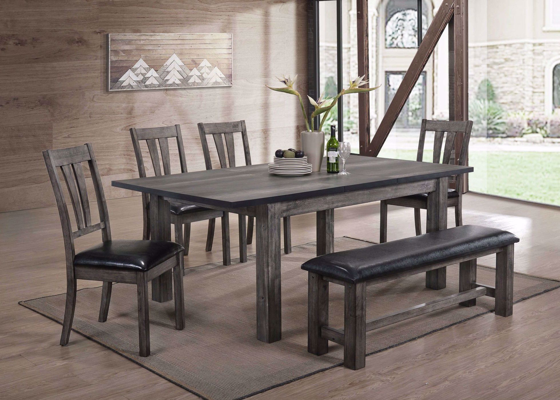 Picture of Nathan Dining Set with 4 Chairs and 1 Bench