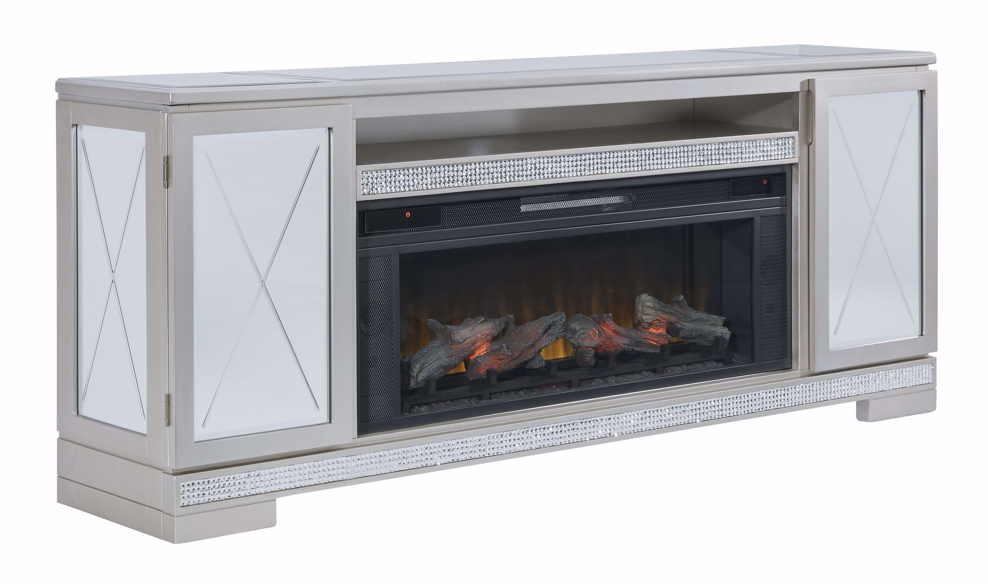 Picture of Flamory TV Stand with Fireplace Insert