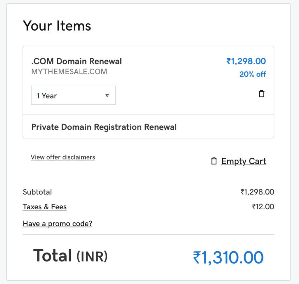godaddy domain renewal, working renewal coupon