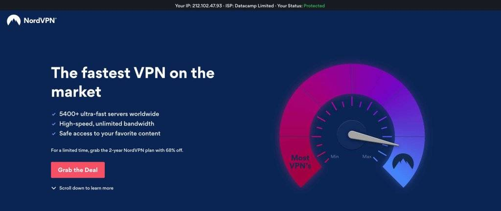 NordVPN - Best VPN for Accessing Putlocker Alternatives