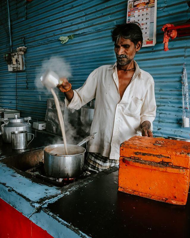 Hot Tea Vendor in India