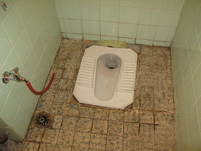 Squat toilet in India