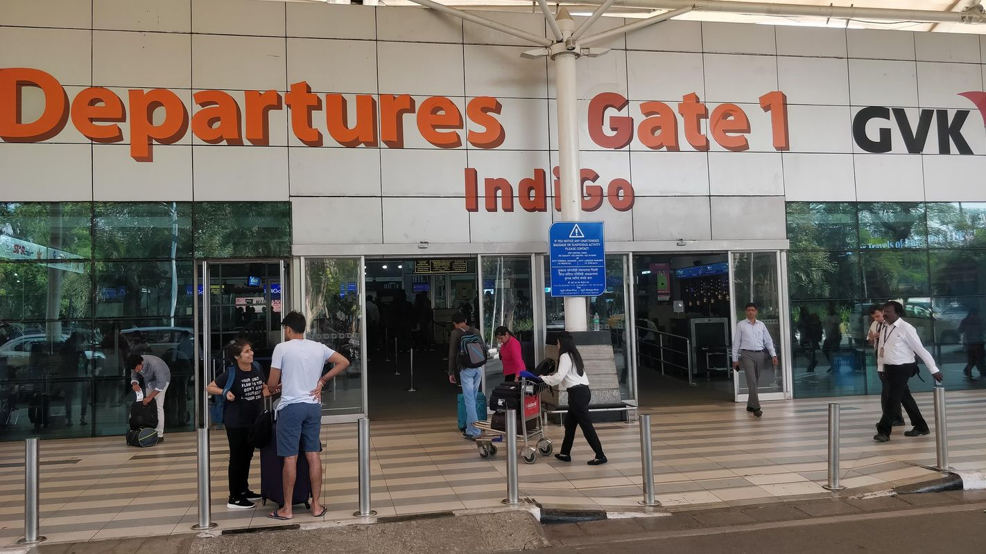 Departures Gate 1 at Mumbai Airport Domestic Terminal T1