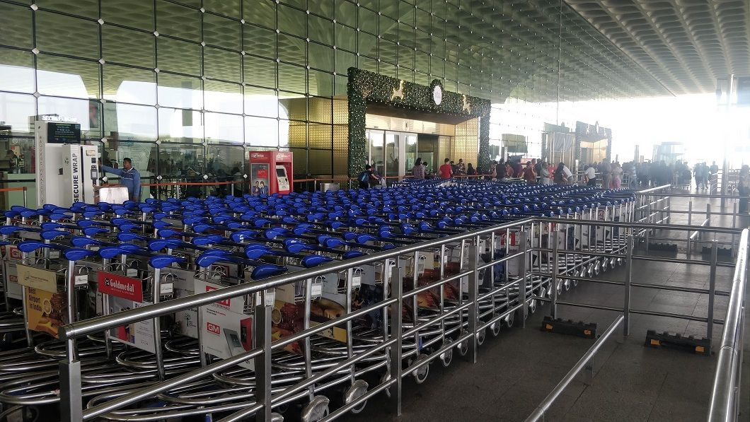 Trolley Point Service at the Departures Level Mumbai Airport