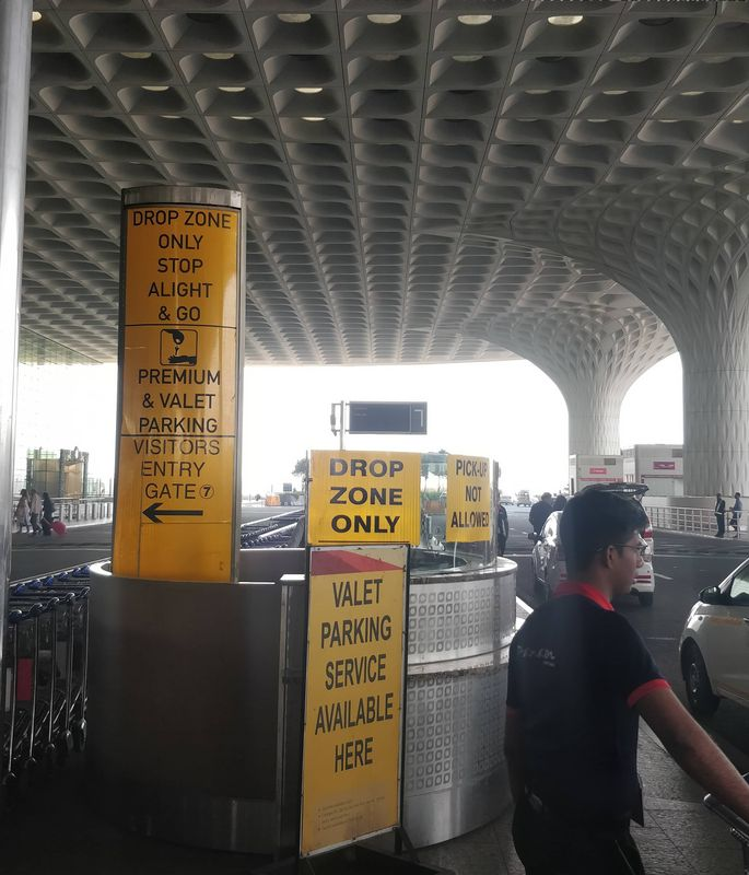 Drop Zone Vallet Counter at Mumbai Airport Terminal 2