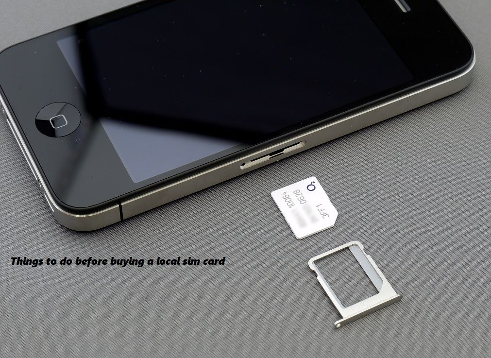 Things to do before getting a sim card in India