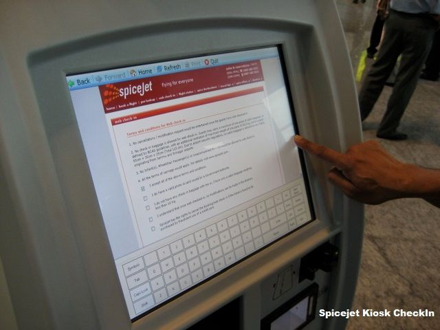 Spicejet Kiosk Check In