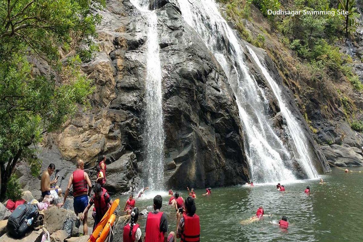 Dudhsagar Falls Swimming Site