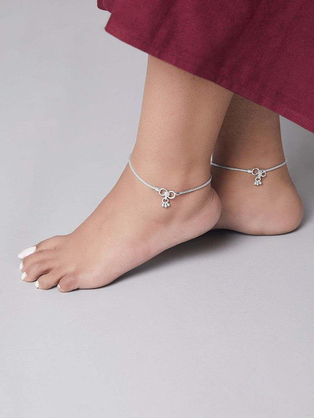 anklets american diamond online product anklet golden
