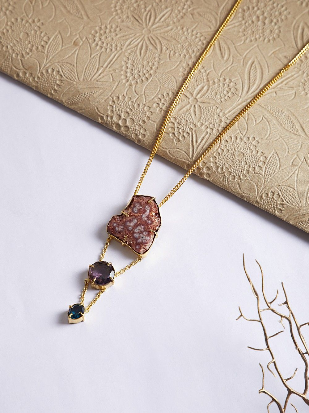 healing enchanted stone the necklace moon products natural forest