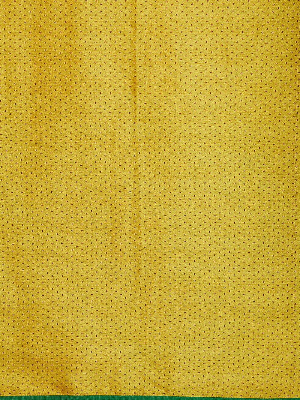 Buy Yellow Green Printed Mashru Silk Fabric (2.5 Meters) online at ...