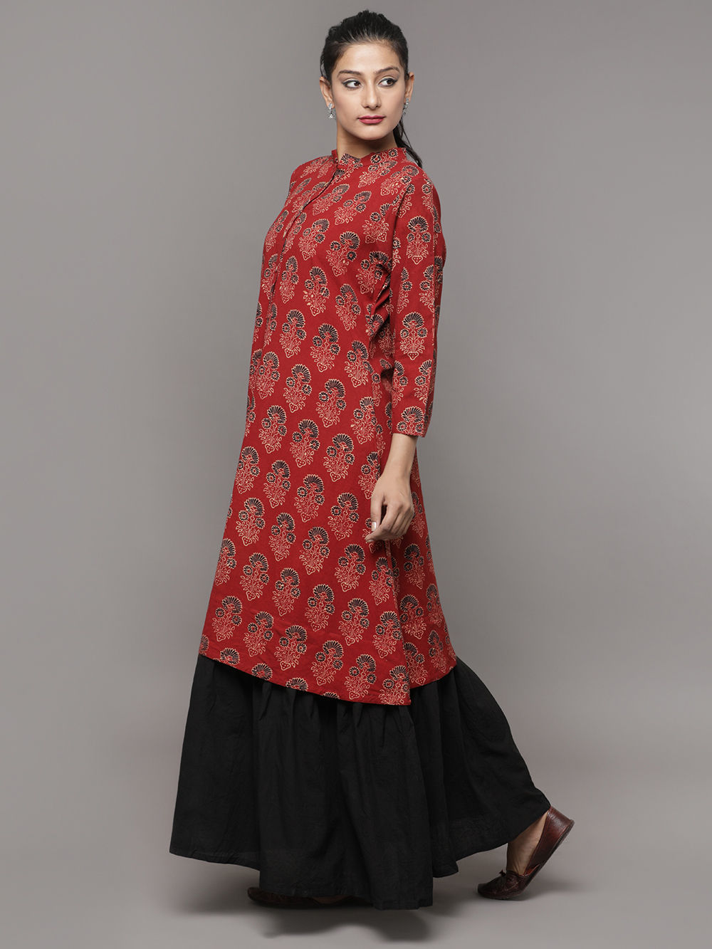 Cotton maxi dress h&m