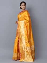 Yellow Silk Handwoven Banarasi Saree