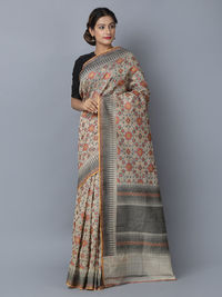 Multicolor Cotton Silk Handwoven Banarasi Saree