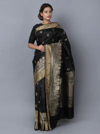 Black Silk Handwoven Banarasi Saree