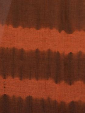 Brown Orange Cotton Tie and Dye Handwoven Dupatta