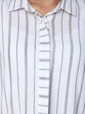 White Striped Cotton Shirt