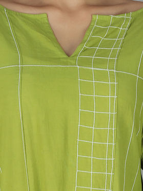 Lime Green Cotton Tunic