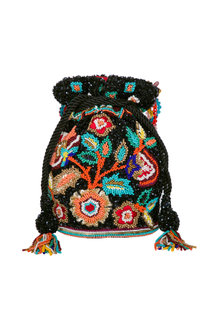 Multi Colored Embroidered Potli Bag by Adora by Ankita