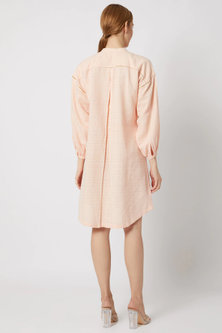 Peach Dress With Drop Shoulders by Ahmev