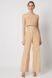 Beige Pants With Side Pockets by Ahmev