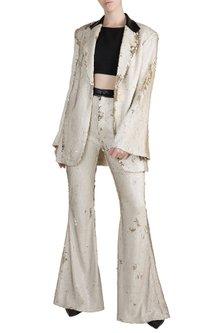 Silver Sequin Blazer Set by PARNIKA