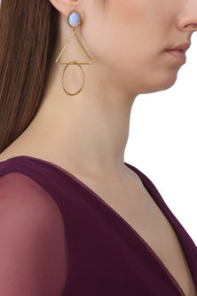 Gold Plated Opal Drop Earrings by Aaree Accessories