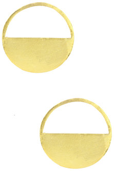 Gold Plated Small Round Earrings by Aaree Accessories