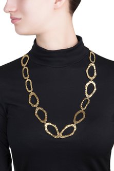 Gold plated reversible necklace by SAMSARA Jewels by RH