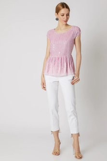 Baby Pink Bling Top by Attic Salt
