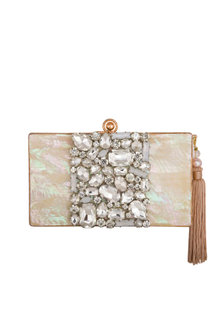 Rose Gold Swarovski Crystals Clutch by Be Chic