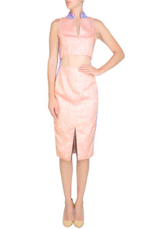 Nude Cut Out Anatome Dress by Bhoomika Chouhan