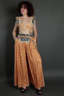 Multi Colored Embroidered Blouse With Pants by Bhanuni by Jyoti