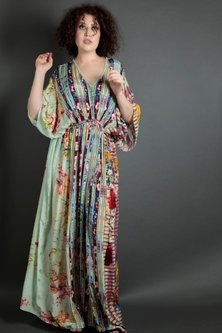 Multi Colored Embroidered Floral Kaftan by Bhanuni by Jyoti