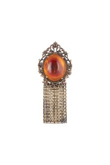 Antique Gold Finish Royal Statement Brooch by Cosa Nostraa
