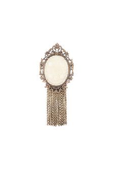 Antique Gold Finish Glass Stone Brooch by Cosa Nostraa