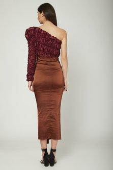Purple One Shoulder Dress by Sameer Madan
