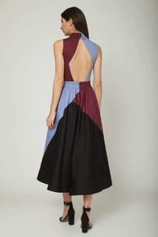 Multi Colored Cotton Dress by Sameer Madan