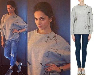 "Grey ""ride to paris"" sweatshirt by Shahin Mannan"